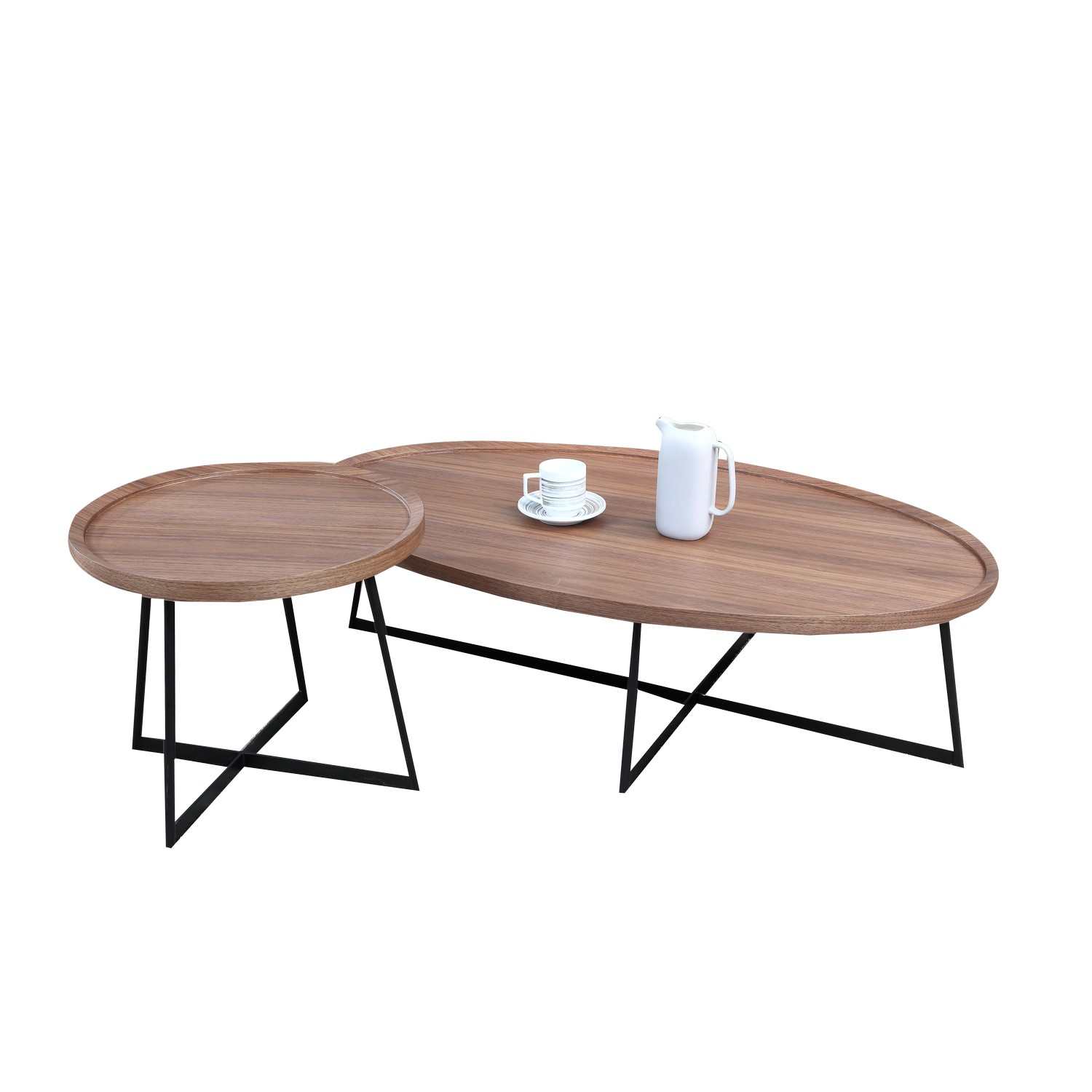 Brc6588a Solid Oval Shape Wooden Coffee Table Absolute Bedding