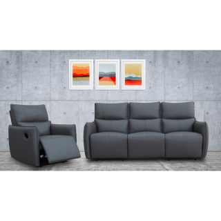 Model: Minota Leather Sofa (Manual) recliner